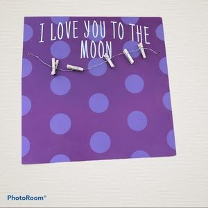 "Wall art"" I love you to the moon and back"""